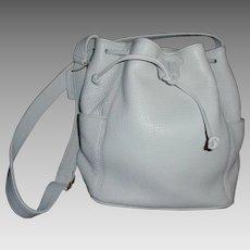 Vintage NEW Coach Handbag Rare White Leather Drawstring Sonoma  Bucket Bag #4926
