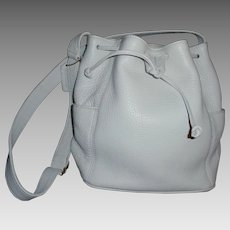 Vintage NEW Coach Handbag Rare White Leather DrawstringSonoma  Bucket Bag #4926