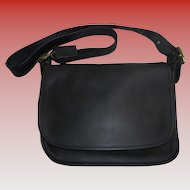 Vintage NEW Coach United States Black Leather Shoulder Bag Never Worn Patricia's Legacy
