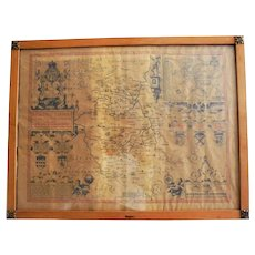 17th Century John Speed Original Antique Map Bedfordshire England