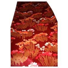 Sateen 20 Yards Bolt Designer Bob Van Allen Fabric Polished Cotton Red Floral Spring Vintage Never Used