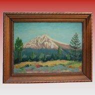 1943 Colorado Oil Painting on Masonite Pike's Peak Signed