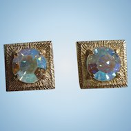 Joseph Bobley of Castlecliff Gorgeous Clip AB Crystal Rhinestone Earrings