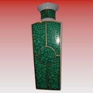 Rare Georges Briard Imperial Malachite Large Vase Eames Era MINT!