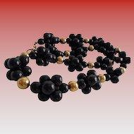 Anne Klein Blackberry Clusters Vintage Lucite Necklace Stunning!