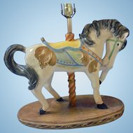 Large Apsit Bros of California Large Beautiful Carousel Show Horse Lamp Children's