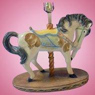 Large Apsit Bros of California Large Beautiful Carousel Show Horse Lamp Children's