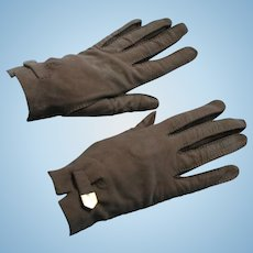 Christian Dior Size 7 Ladies Gloves Light Brown Suede Made in France Fall Autumn Fashion