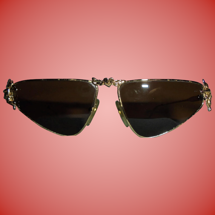9f88a5feacc14 Moschino Cherub Figural Sunglasses by Persol Cherubs and Heart Vintage  Couture