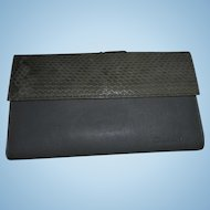 Christian Dior Grey Snake Skin and Leather Vintage Wallet