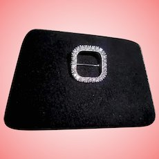 Platinum & 27 Diamond Geometric Shaped Brooch Pin TCW 1.10