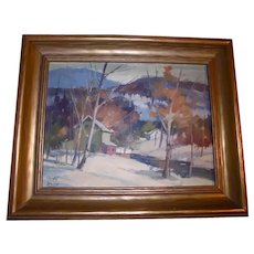William Garnet Hazard Original Oil Painting Saskatchewan Landscape Canada Listed Artist