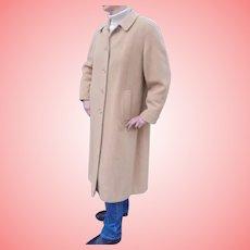 Vintage 100% Camel Hair Ladies Coat Size M - L  Fits Current Size 8 to 10