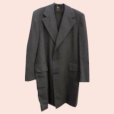 MINT Mens Chicago Vintage Hart Schaffner & Marx Light Weight Wool Top Coat