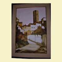 San Gimignano Towers Italy Large Beautiful Florence Oil Painting Landscape