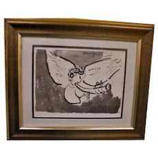 Marc Chagall Numbered Lithograph United Nations Special Angel with Trumpet