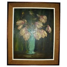 VINCENT NESBERT Famed Pittsburg Artist Oil Painting Still Life Polish American WPA Era Listed Artist Pennsylvania
