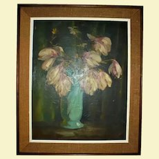 VINCENT NESBERT Famed Pittsburg Artist Oil Painting Still Life Polish American WPA Era Listed Artist Pennsylvania