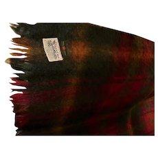 Maple Leaf Tartan Made in Scotland 100% Mohair Glen Cree Mills Vintage Blanket Exc Cond Scottish
