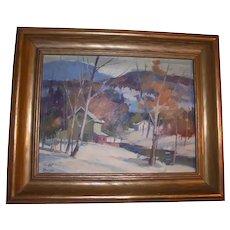 William Garnet Hazard Original Oil Painting Saskatchewan Landscape Canada Listed Artist