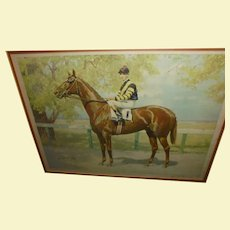 George Ford Morris Man-O-War Hand Signed Numbered Limited Edition Lithograph Framed Horse Racing Equine Art