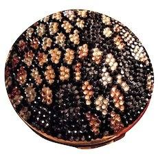 Judith Leiber Animal Print Jeweled Crystal Embellished Powder Compact With Mirror