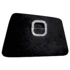 Platinum & 28 Diamond Geometric Shaped Brooch Pin TCW 1.10