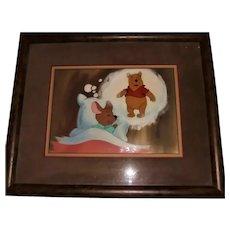 "Original Vintage Disney Animation Movie Cel Winnie the Pooh & Roo ""Dream Scene"" Christie's Auction NYC Provenance"