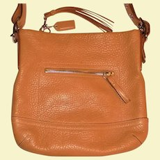 Vintage New Never Used Tan Coach Handbag Pebbled Leather Shoulder Bag