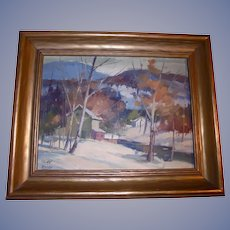 William Garnet Hazard Original Oil Painting Saskatchewan Canada Listed Artist