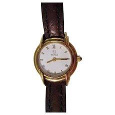 Beautiful Swiss FENDI 300L Gold Plated FF Zucca  Ladies Swiss Made Vintage Watch