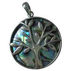 Sterling Silver Tree of Life Pendant Abalone