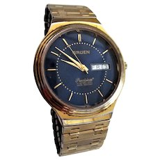 Men's Gruen Blue Face Precision Watch Day / Date