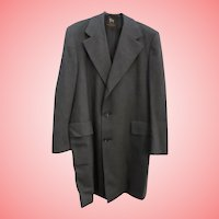 MINT Mens Chicago Vintage Hart Schaffner & Marx Light Weight Wool Top Coat