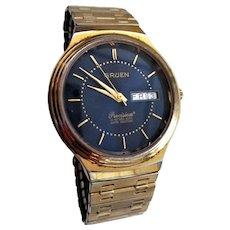 Men's Gruen Blue Face Precision Watch Day / Date