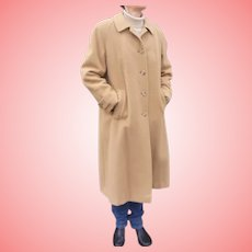 Vintage Camel Hair Ladies Coat Size 12 Fits Current Size  8 to 10