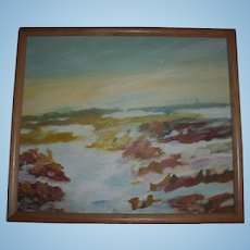 Southwest Impressionist Landscape Oil Painting Signed Peacock