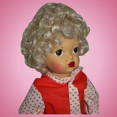 """16"""" Pat Pending Terri Lee Doll Platinum Blonde Painted Face"""