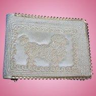 Vintage 1950s Poodle Dog Silk Wallet