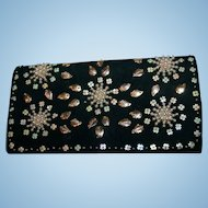 Vintage Antelope Suede Beaded Evening Bag or Clutch Spain