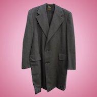 MINT Mens Vintage Hart Schaffner & Marx Light Weight Wool Top Coat
