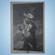 18th Century Museum Worthy Oxford Univ Antique Stippel Engraving c1790s Charity by Facius Oxford Windows London England