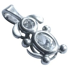 Sterling Silver Charm 925 Floppy Eared Doggy