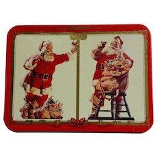 Coca-Cola Christmas Nostalgia Double Deck Playing Cards Circa 1994