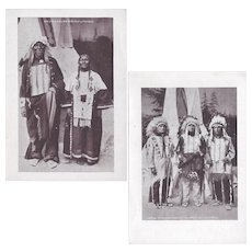 Native American 101 Ranch Wildwest Show Identified Sioux Indian Postcards (2)
