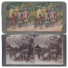 Philippine Village and Japanese Stereo View Cards