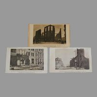 Group of Real Photo Postcards San Francisco Earthquake and Fire 1906