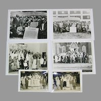 Black African American Owen College Photographs, Group of 6