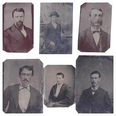 6 Civil War Era Tin Type Photographs