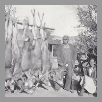 Hunting Photograph of Native American Quapaw Alex Beaver